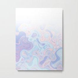 Liquid Pastel Marble Ombre 1. lilac, nude and aqua #pastelvibes #homedecor #buyart Metal Print