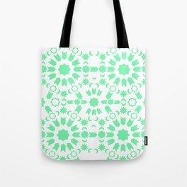 Mint Arabesque Tote Bag
