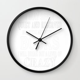 BOOKS CRAZY Wall Clock