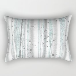 Pale Birch and Blue Rectangular Pillow