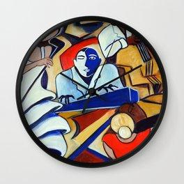 The Blue Piano Wall Clock