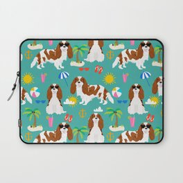 Cavalier King Charles Spaniel beach day tropical vacation socal sunshine Laptop Sleeve