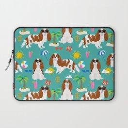 Cavalier King Charles Spaniel beach day tropical vacation socal sunshine Laptop Sleeve