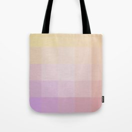 Pixel Gradient between Soft Yellow and Grayish Red Tote Bag