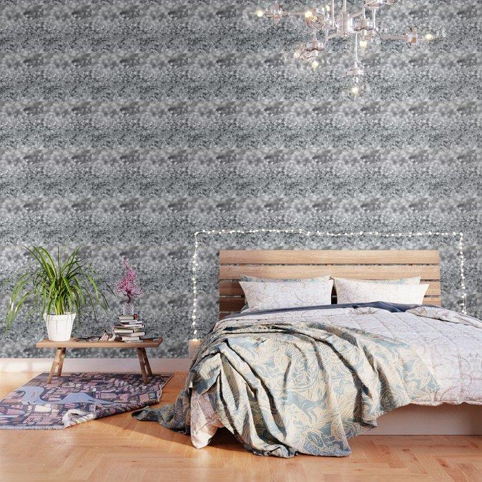 Silver Gray Lady Glitter #1 #shiny #decor #art #society6 Wallpaper