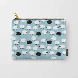 Black White Sheep Carry-All Pouch