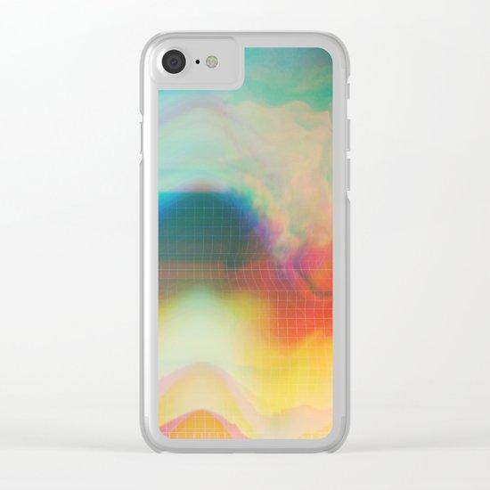 Glitch 01 Clear iPhone Case