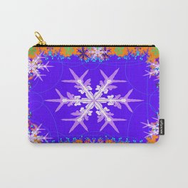 Purple Snowflake Modern Art Abstract Carry-All Pouch