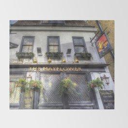 The Mayflower Pub London Throw Blanket