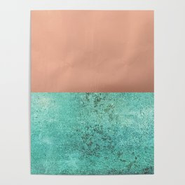 NEW EMOTIONS - ROSE & TEAL Poster