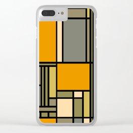 Frank Lloyd Wright Inspired Art Clear iPhone Case