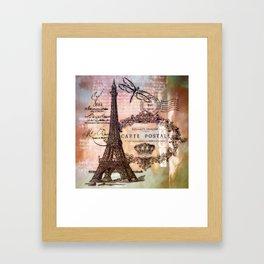 Eiffel tower collage Framed Art Print
