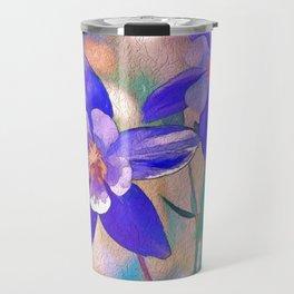Colorado Columbine Flower Travel Mug
