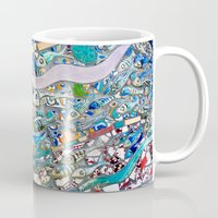 bathroom Mugs featuring Venice Beach Bathroom Art by Kim Ramage