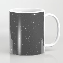 Monochrome Black and White Galaxy Pattern Coffee Mug