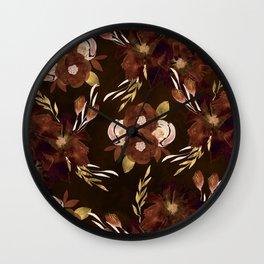 Autumn Night Meadow Wall Clock