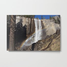 Rainbow Over Vernal falls Metal Print