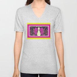 Pink Warrior (Number 11) Unisex V-Neck