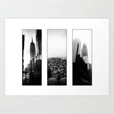 New York Triptych Art Print