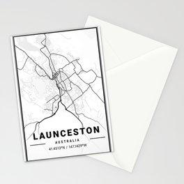Launceston Light City Map Stationery Cards