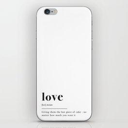 Love Definition iPhone Skin