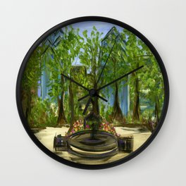 Rittenhouse Square in the Spring Wall Clock