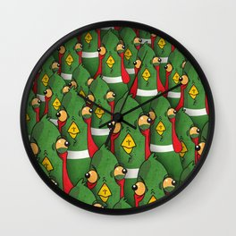 PHEASANTS - Birds | Funny | Comics | Rush | Stupid | Vector | Texture | LOL | Animals  Wall Clock