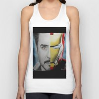 tony stark Tank Tops featuring Tony Stark by Goolpia