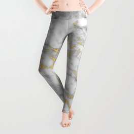 Gold Flecked Marble Leggings