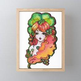 Clover nymph redheaded fairy Framed Mini Art Print