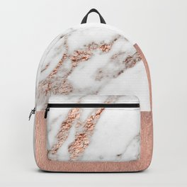 Rose gold marble and foil Backpack