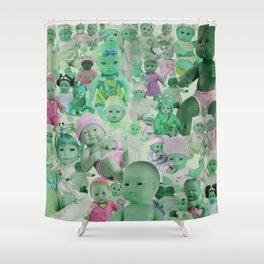 Green Babies Shower Curtain
