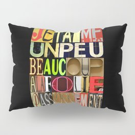 JE T'AIME 01 Pillow Sham