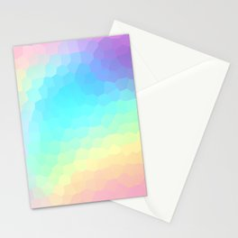 Pastel Rainbow Gradient With Stained Glass Effect Stationery Cards