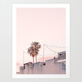 Pink Palms at Sunrise Art Print