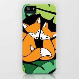 Four Foxes iPhone Case