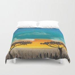 Jungle sunset Duvet Cover