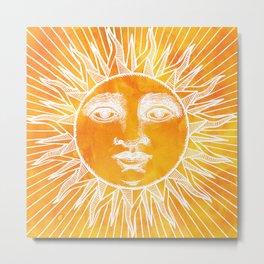 Sun vintage Metal Print