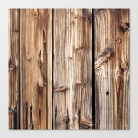wood Canvas Prints featuring Wood by Patterns and Textures