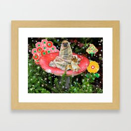 Saturday in the Forest with Cleve & Steve Framed Art Print