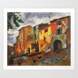 Charles Camoin - Village Street, Collioure Art Print