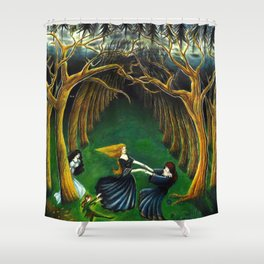 Dancing Nymphs Shower Curtain