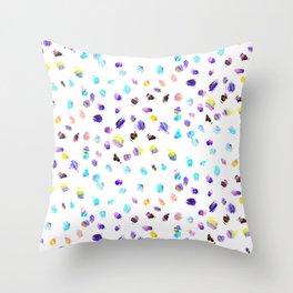 Paint Daubs Throw Pillow