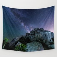 milky way Wall Tapestries featuring Milky Way Rock by 2sweet4words Designs
