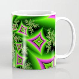 Green And Pink Shapes Fractal Coffee Mug