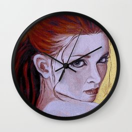 Blue Eyed Red Wall Clock