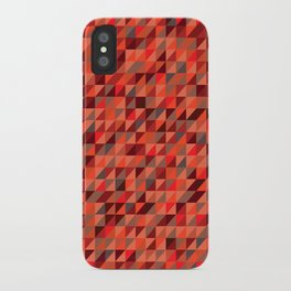 Quilted Reds / Retro Triangles iPhone Case