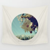 blossom Wall Tapestries featuring Blossom by yuvalaltman
