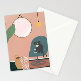 A day with my dog  Stationery Cards