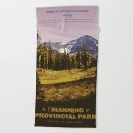 E. C. Manning Provincial Park Beach Towel